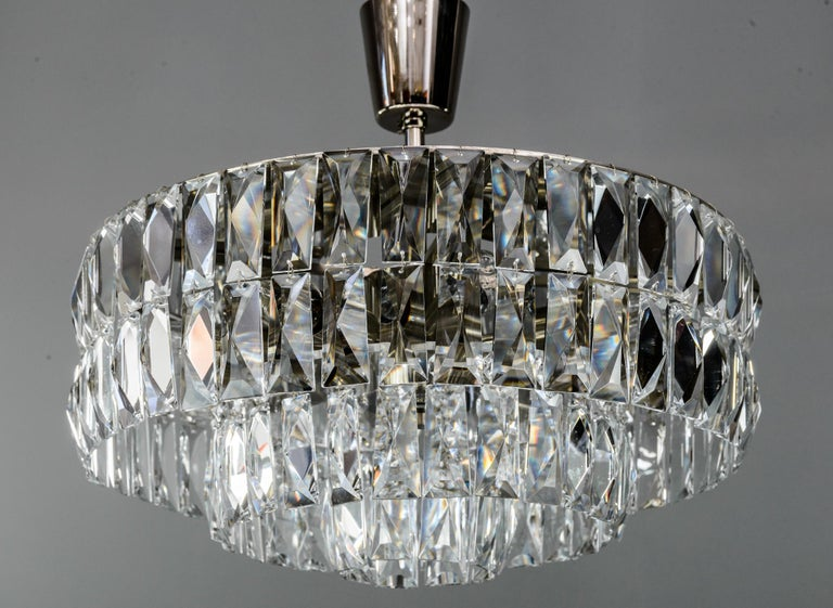 Mid-Century Modern Bakalowits Crystal Chandelier, circa 1960s For Sale