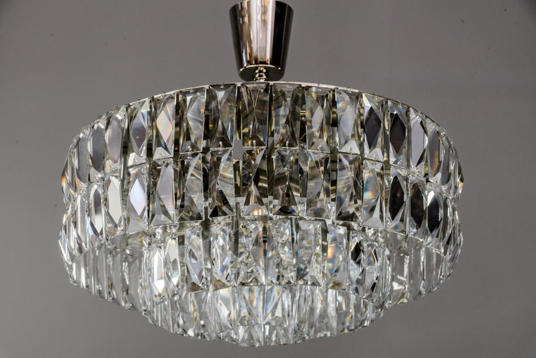 Plated Bakalowits Crystal Chandelier, circa 1960s For Sale