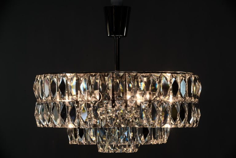 Mid-20th Century Bakalowits Crystal Chandelier, circa 1960s For Sale