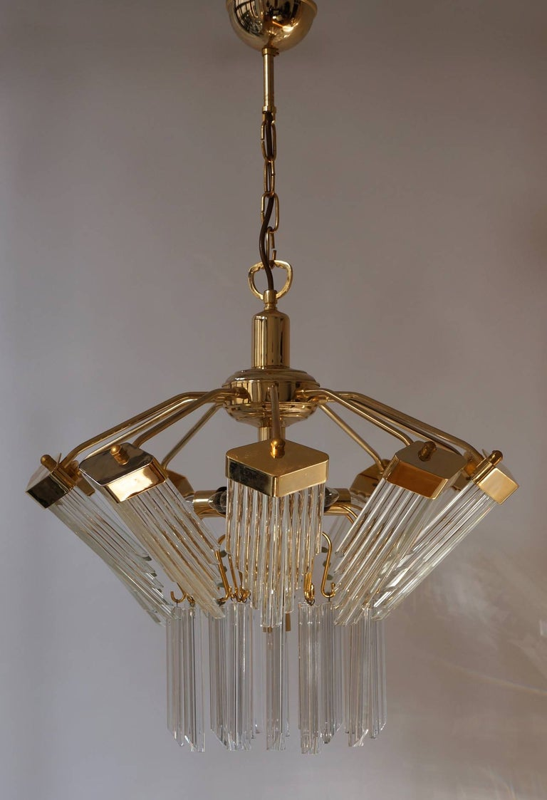 Bakalowits Gold-Plated Crystal Chandelier For Sale 3