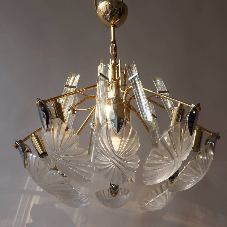 Bakalowits gold-plated crystal chandelier.