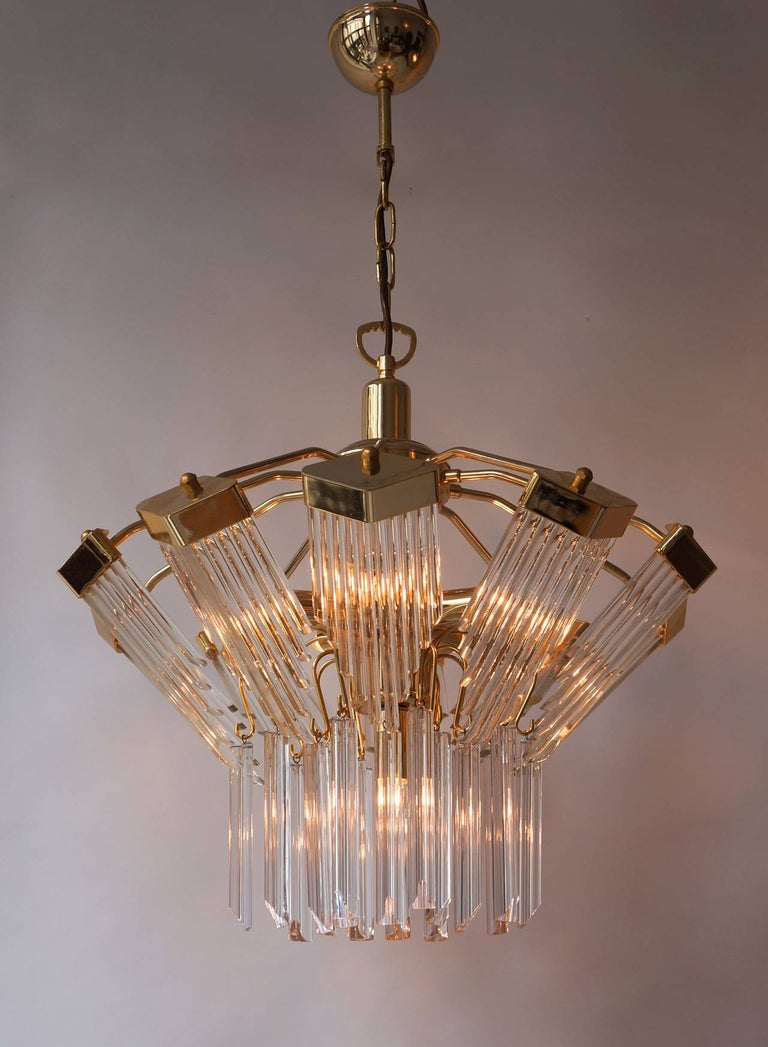 Bakalowits Gold-Plated Crystal Chandelier In Good Condition For Sale In Antwerp, BE