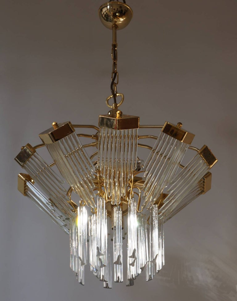 20th Century Bakalowits Gold-Plated Crystal Chandelier For Sale