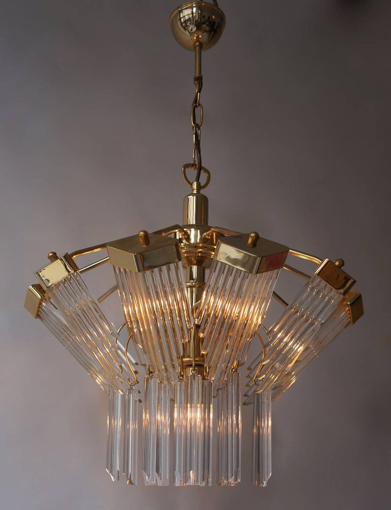 Bakalowits Gold-Plated Crystal Chandelier For Sale 1
