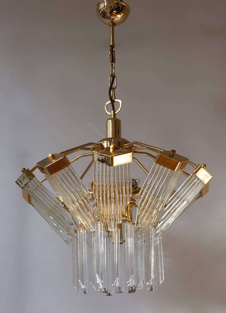 Bakalowits Gold-Plated Crystal Chandelier For Sale 2