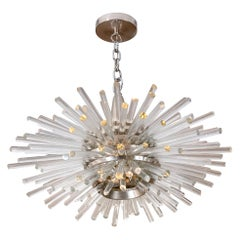 "Bakalowits & Sohne ""Miracle"" Glass Rod Sputnik Chandelier, Austria, 1960s"