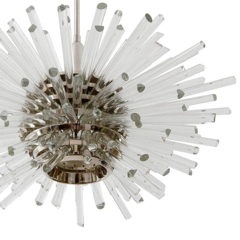 Bakalowits Sputnik Chandelier 'Miracle', Nickel Glass Rods, 1970 For Sale 7