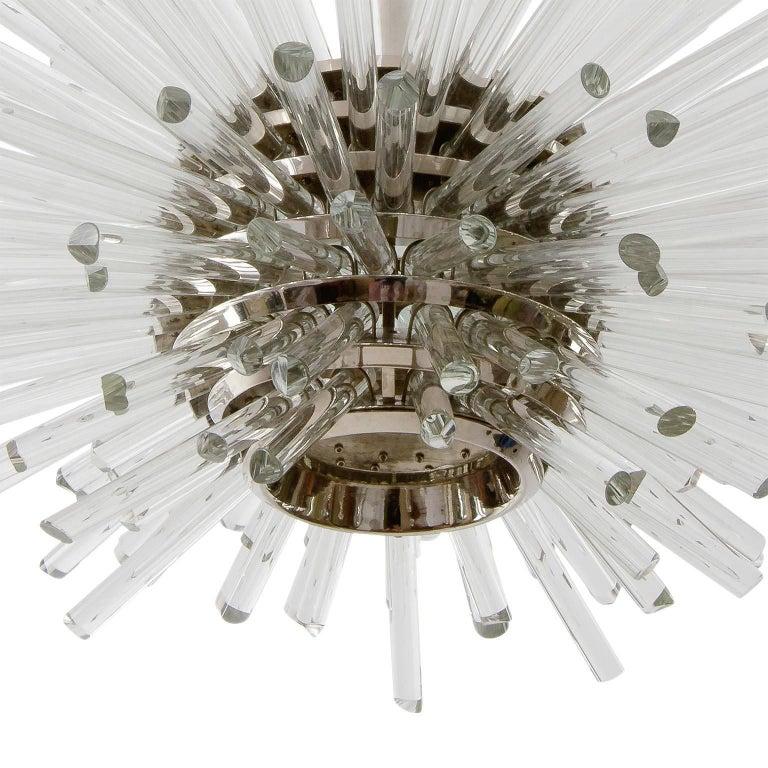 Bakalowits Sputnik Chandelier 'Miracle', Nickel Glass Rods, 1970 For Sale 8