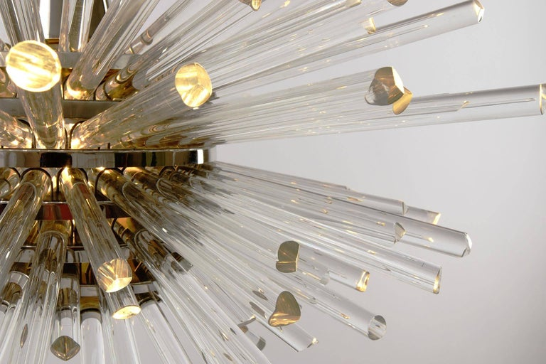 Bakalowits Sputnik Chandelier 'Miracle', Nickel Glass Rods, 1970 For Sale 5