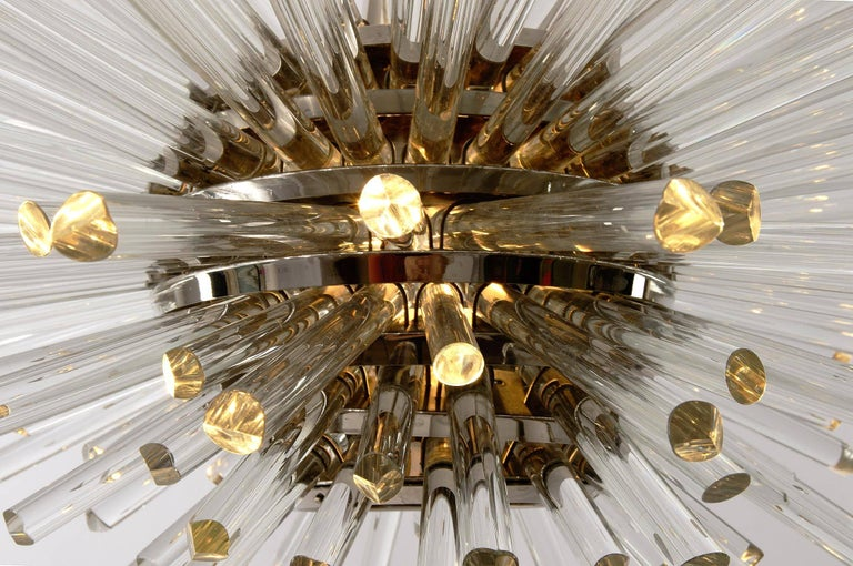 Bakalowits Sputnik Chandelier 'Miracle', Nickel Glass Rods, 1970 For Sale 6