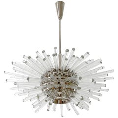 Bakalowits Sputnik Chandelier 'Miracle', Nickel Glass Rods, 1970