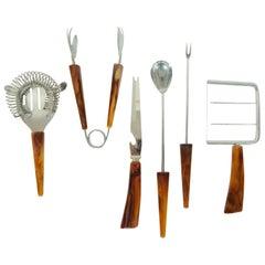 Bakelite Barware Utensil Set of 6