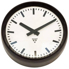 Bakelite Industrial Factory Wall Clock by Pragotron