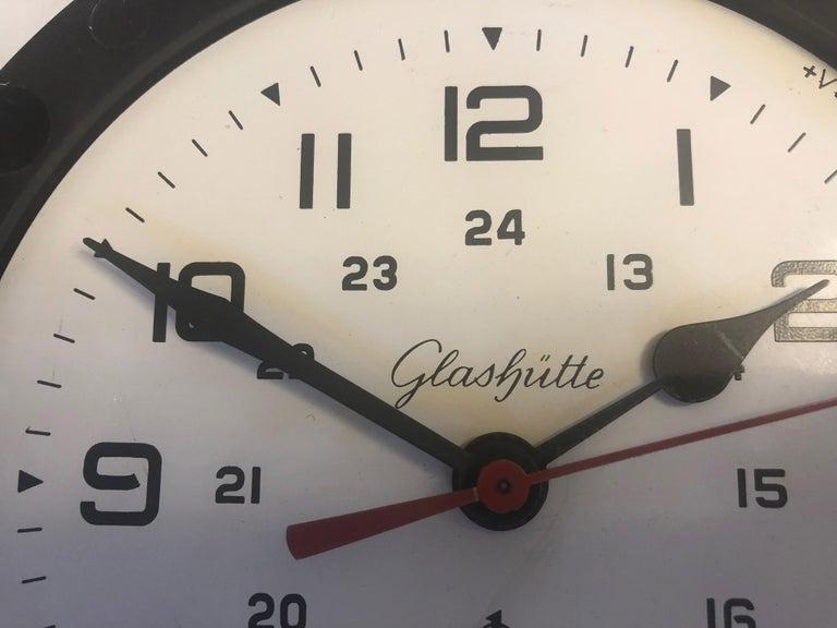 German Bakelite Ship Wall Clock by Glashütte For Sale