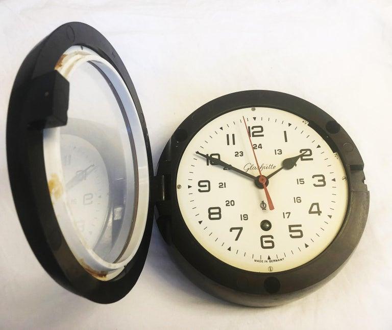 Mid-20th Century Bakelite Ship Wall Clock by Glashütte For Sale