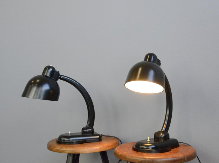 Mid-20th Century Bakelite Table Lamps, circa 1940s For Sale