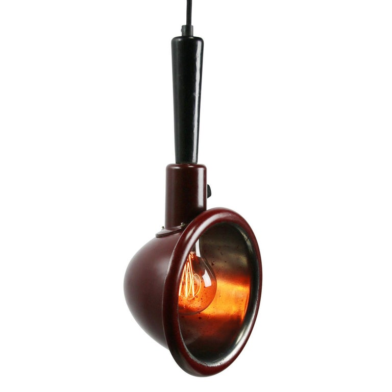 Bakelite work light Photography dark room light Black cotton wire with plug  Weight: 0.50 kg / 1.1 lb  Priced per individual item. All lamps have been made suitable by international standards for incandescent light bulbs, energy-efficient and