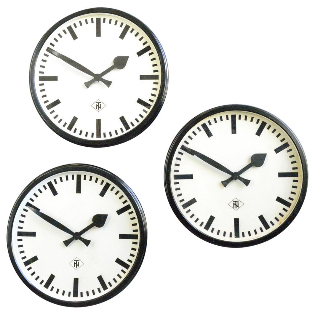 Bakelite Wall Clocks by TN, Circa 1940s