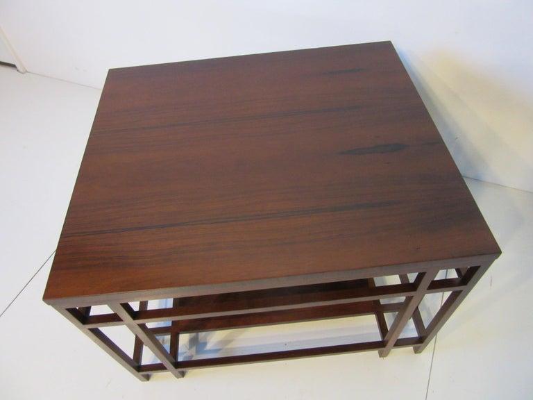 Mid-Century Modern Baker Brazilian Rose Wood Side / End Table  For Sale