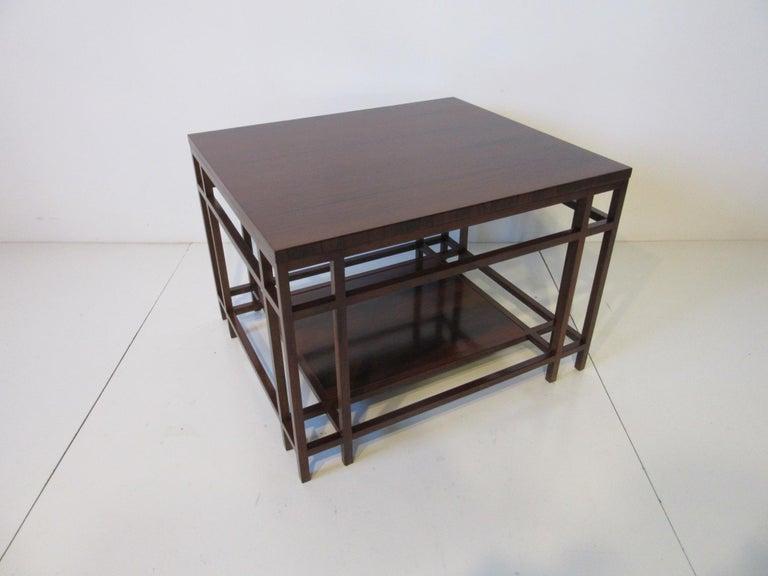 American Baker Brazilian Rose Wood Side / End Table  For Sale