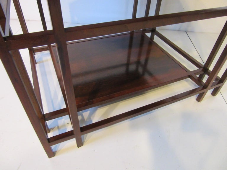 Baker Brazilian Rose Wood Side / End Table  In Good Condition For Sale In Cincinnati, OH