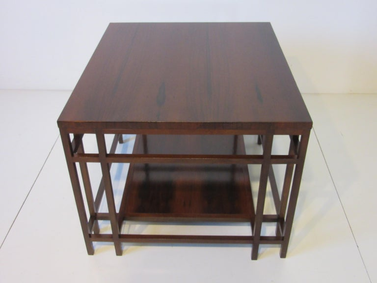 20th Century Baker Brazilian Rose Wood Side / End Table  For Sale