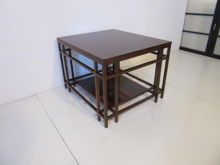 Baker Brazilian Rose Wood Side / End Table  For Sale 1