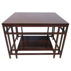 Baker Brazilian Rose Wood Side / End Table