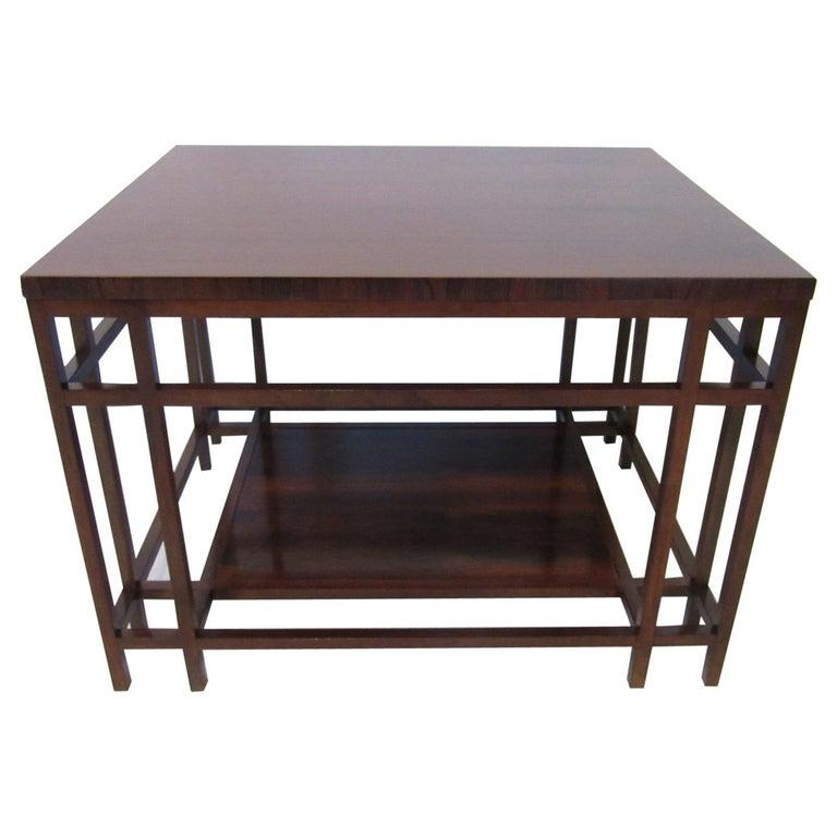 Baker Brazilian Rose Wood Side / End Table  For Sale