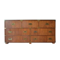 Baker Campaign Long Dresser / Chest of Drawers