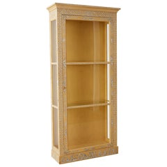 Baker Chinoiserie Painted Bookcase or Display Cabinet