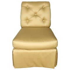 Baker Cream Upholstered Slipper Chair