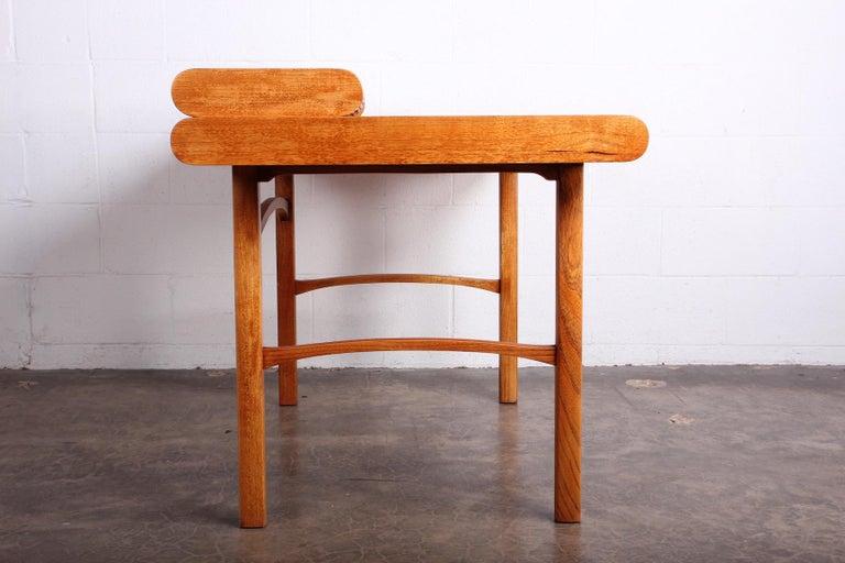 Baker Desk in Oak and Walnut For Sale 10