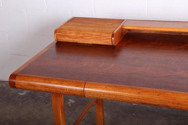 Late 20th Century Baker Desk in Oak and Walnut For Sale
