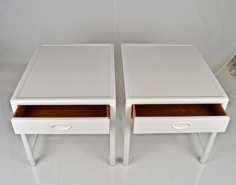 Lacquered Baker End Tables, circa 1950s For Sale