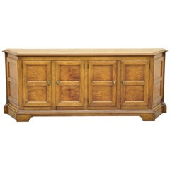 Baker French Provincial Country Style Walnut Credenza Cabinet Sideboard Buffet