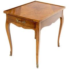 Baker French Regency Satinwood One-Drawer Side End Lamp Table