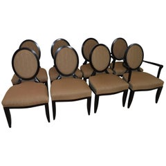 """Baker Furniture Barbara Barry Eight """"X"""" Back Chairs"""