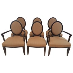 "Baker Furniture Barbara Barry Six ""X"" Back Chairs"