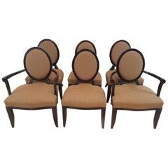 "Baker Furniture Barbara Barry Six ""X"" Back Chairs"