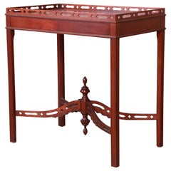 Baker Furniture Chippendale Carved Mahogany Tea Table