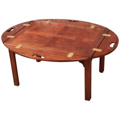 Baker Furniture Chippendale Mahogany Butler's Coffee Table