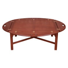 Baker Furniture Chippendale Mahogany Butler's Coffee Table, Newly Refinished