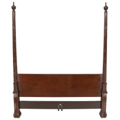 Baker Furniture Chippendale Style 4 Poster King Size Bed Headboard Rails