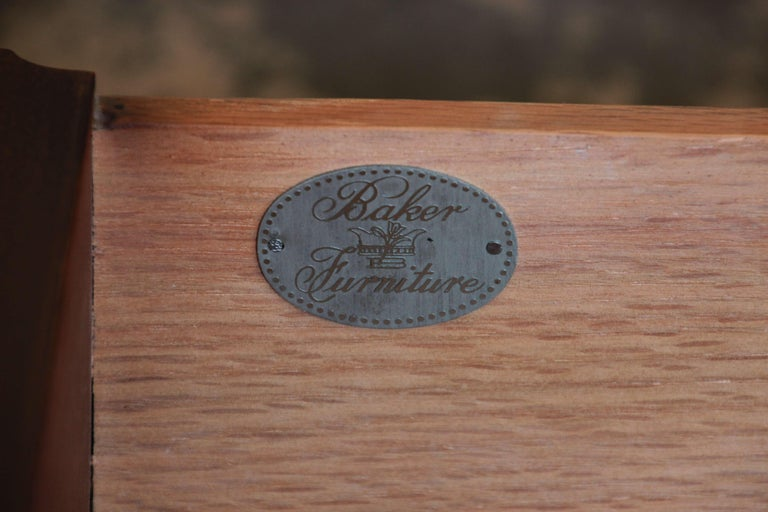 Baker Furniture Chippendale Style Mahogany Seven-Drawer Long Dresser For Sale 7