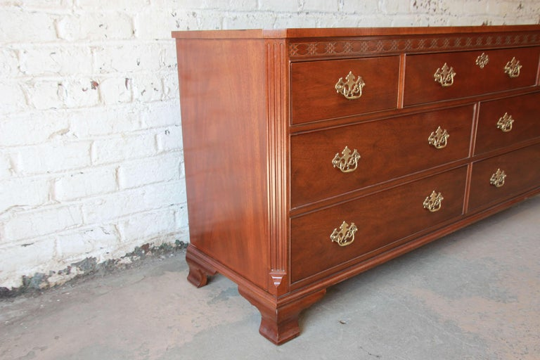 Baker Furniture Chippendale Style Mahogany Seven-Drawer ...