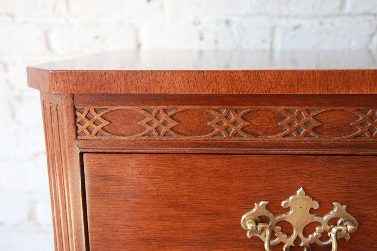 Baker Furniture Chippendale Style Mahogany Seven-Drawer Long Dresser For Sale 2