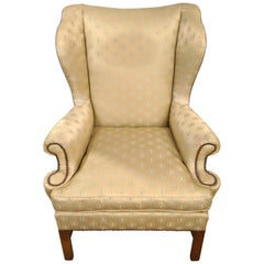 Baker Furniture Company Chippendale Wingback or Desk Chair in a Fine Fabric