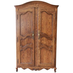 Baker Furniture Country French Louis XV Style Oak Armoire Dresser