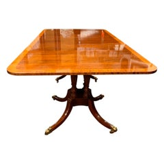 Baker Furniture Double Pedestal Mahogany Dining Room Table